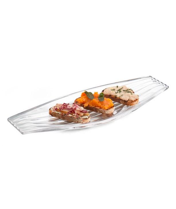 Блюдо для закусок Drift из стекла, дизайн Wey Young