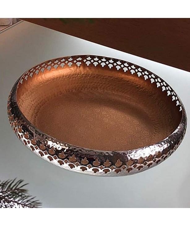 Блюдо декоративное со сквозным орнаментом