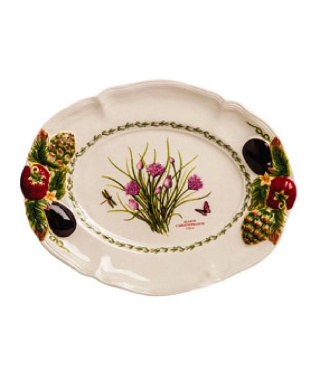 Декоративное овальное блюдо