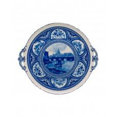 Блюдо декоративное для торта/сыра, English Blue
