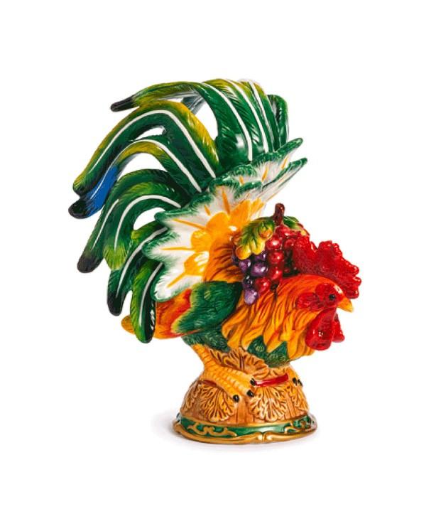 Керамическая декоративная скульптура Петух Le Coq, 250 мм