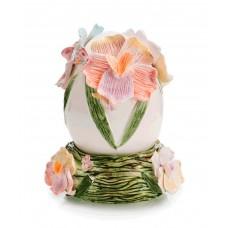 Коллекционная декорация Яйцо, 18 см, ручная роспись, с подставкой