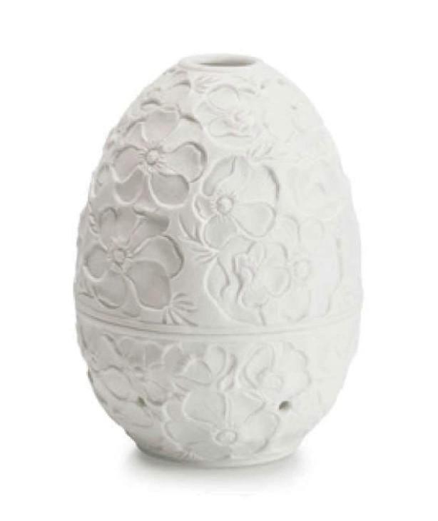 Фарфоровая шкатулка Яйцо с подсветкой, Фиалка