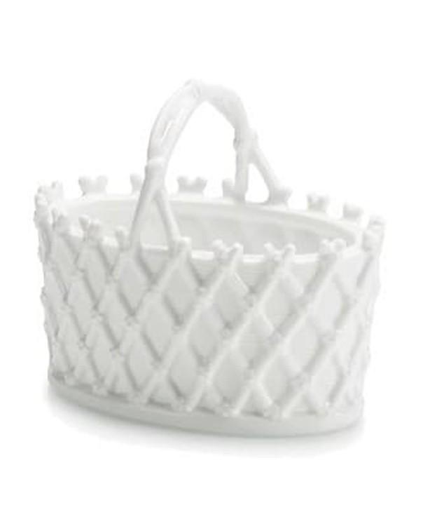 Декоративная фарфоровая корзинка