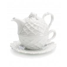 Набор для зеленого чая: чашка, блюдце, заварочный чайник