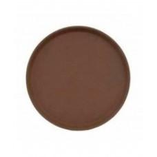 Поднос Cambro круглый, коричневый 280 мм