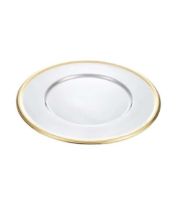 Подставное декоративное блюдо с золотым ободком Tulip 330 мм