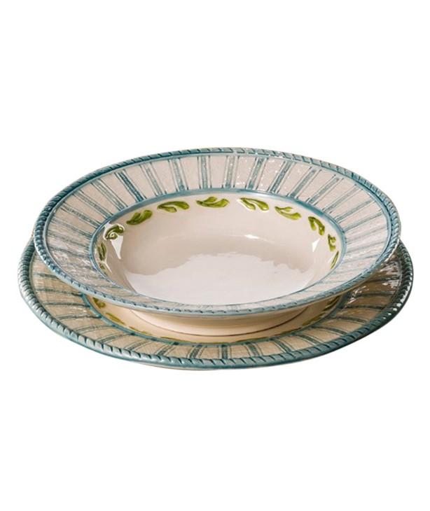 Тарелка столовая Яхта, ручная роспись