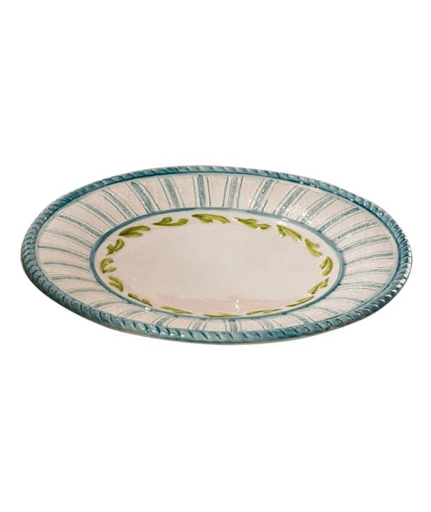 Тарелка десертная Яхта, ручная роспись