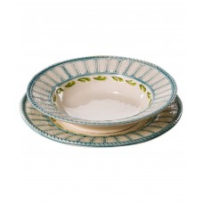 Тарелка суповая Яхта, ручная роспись