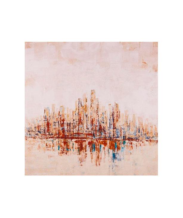 Печать с ручной росписью New York