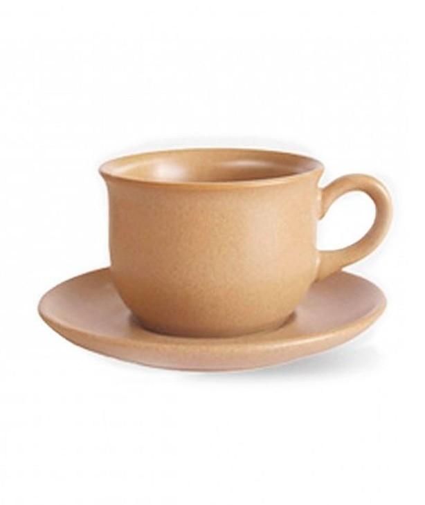 Чашка с блюдцем 100 мл, благородный песок Trio