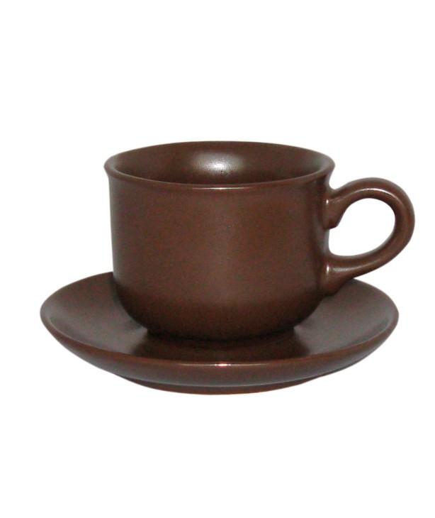 Чашка с блюдцем 100 мл, коричневая Trio