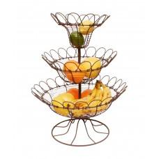 Этажерка для фруктов, 3 уровня Коттедж