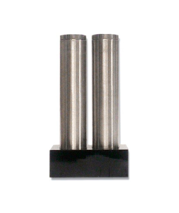 Перечница и солонка цилиндрическая, черная основа