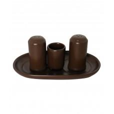 Набор для специй 4 предмета коричневый