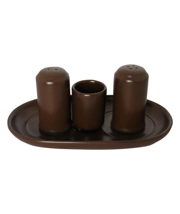 Набор для специй 4 предмета коричневый (Прокат)