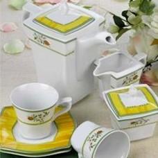 Чайный сервиз 15 предметов квадрат FLORA