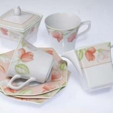 Чайный сервиз 15 предметов квадрат SPRING