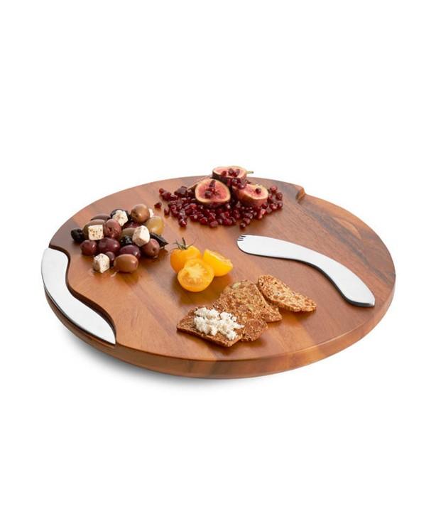 Доска сырная Classic с ножом и вилкой для выскабливания твердого сыра