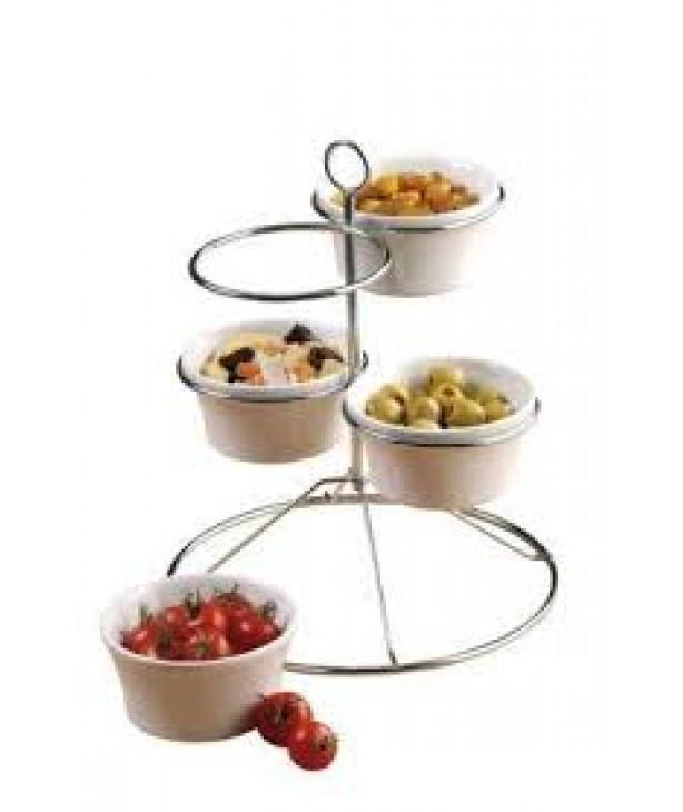 Подставка для закусок с 4 тарелками