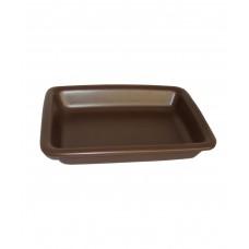 Блюдо для запекания прямоугольное 280*210 мм, коричневое (Прокат)