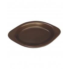 Блюдо для запекания овальное 285*150 мм, коричневое (Прокат)