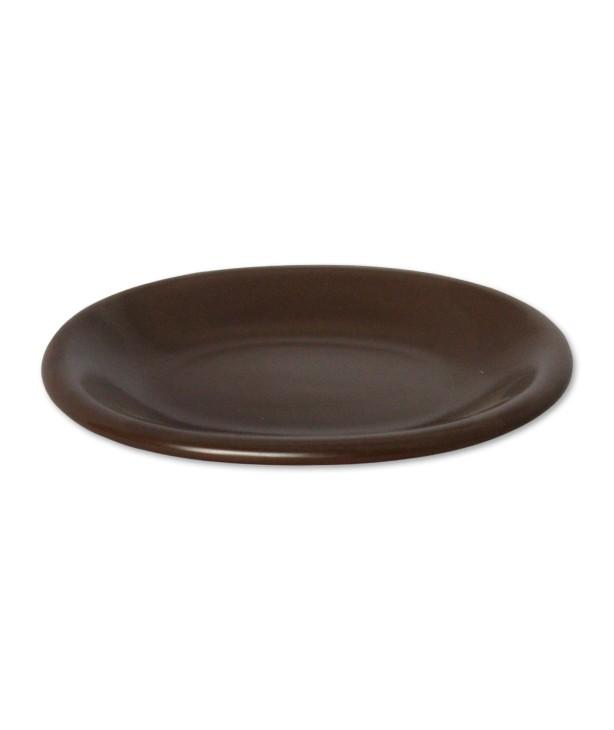 Блюдо овальное 190*150 мм, коричневое