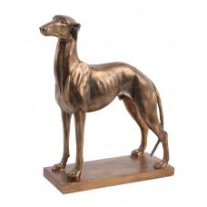Скульптура кабинетная Гончая под бронзу