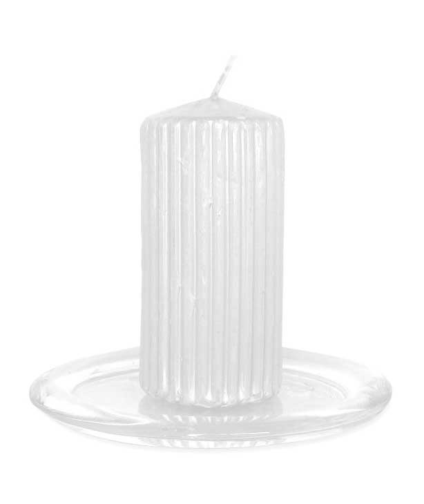 Поднос для свечей 11,5 см стекло