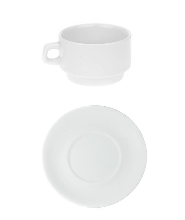 Чашка чайная 250 мл с блюдцем GARMINIE (Прокат)