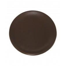 Тарелка плоская 190 мм, коричневая (Прокат)