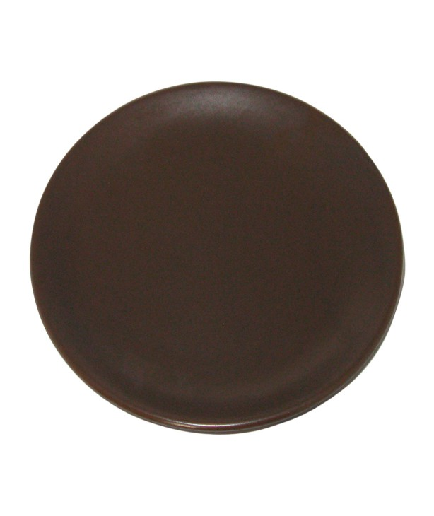 Тарелка плоская 190 мм, коричневая