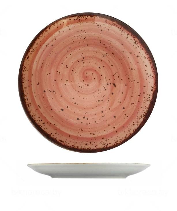 Тарелка плоская 280 мм Corendon розовая