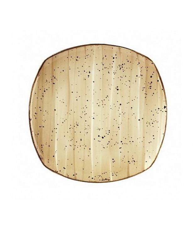 Тарелка призма подставная без борта 300 мм Corendon Beige
