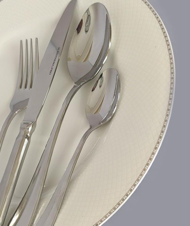 Набор столовых приборов на 12 персон Baguette steel