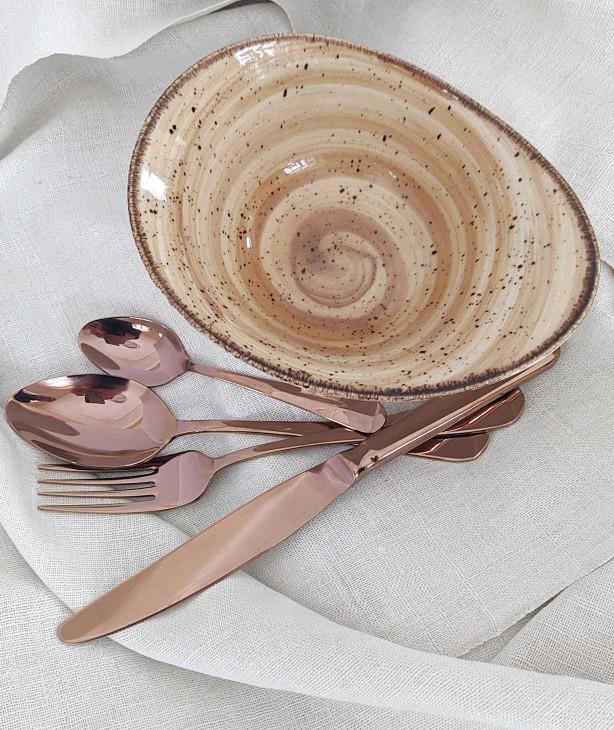 Набор столовых приборов на 4 персоны Baguette bronze