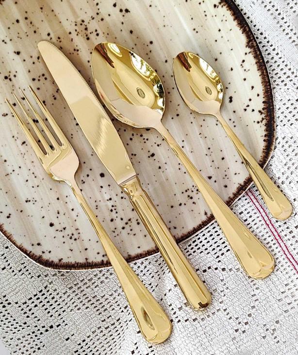 Набор столовых приборов на 6 персон Baguette gold
