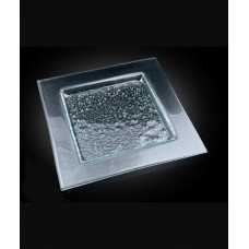 Блюдо квадратное 400*400 мм, прозрачное стекло Gobi