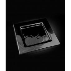 Блюдо квадратное 320*320 мм, черное стекло Gobi (Прокат)