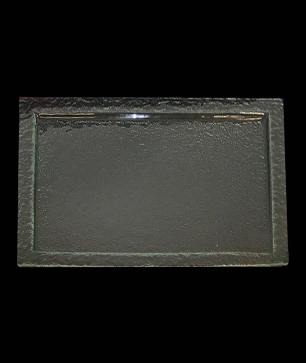Блюдо прямоугольное 650*530 мм, прозрачное стекло Gobi