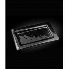 Блюдо прямоугольное 325*265 мм, черное стекло Gobi (Прокат)