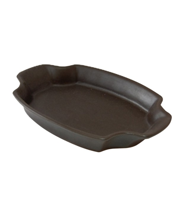 Блюдо для запекания 333*225 мм, коричневое