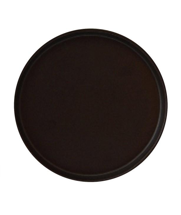 Тарелка 255 мм, коричневая (Прокат)