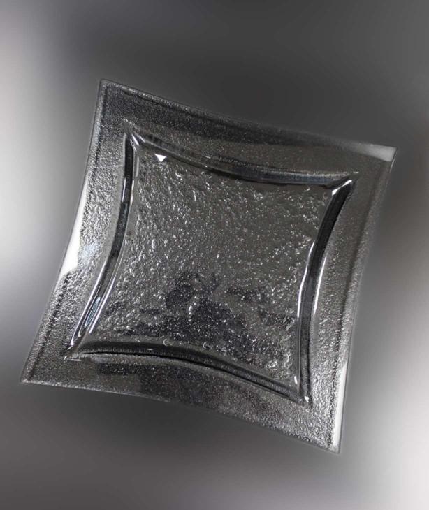 Блюдо квадратное 260*260 мм, дымчатое стекло Luk