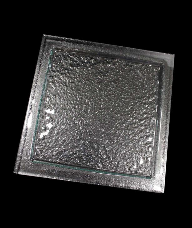 Блюдо квадратное для презентации 295*295 мм, прозрачное стекло Linea