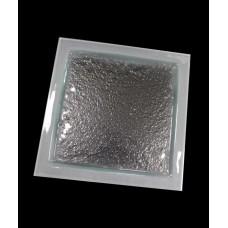 Блюдо квадратное для презентации 295*295 мм, прозр. стекло, сат. кайма Linea