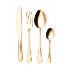 Набор столовых приборов на 12 персон Leonardo gold