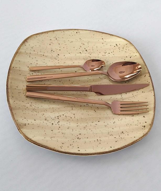 Набор столовых приборов на 12 персон Lite bronze