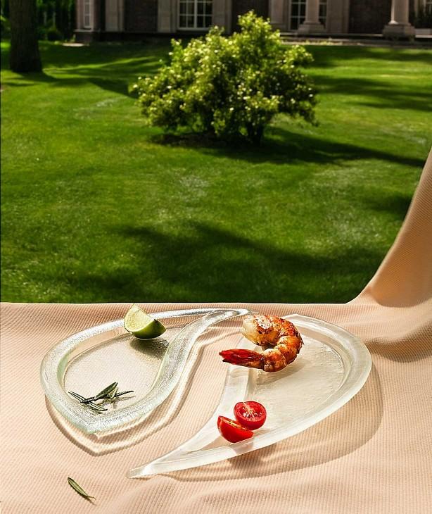 Блюдо капля 330*140 мм, стекло сатин Mio